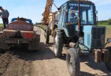 заправка техніки в полі
